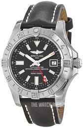 Breitling Avenger II GMT Black/Leather Ø43 mm A3239011-BC35-435X-A20BA.1
