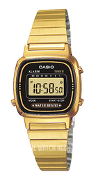 Casio Casio Collection Yellow gold toned steel 30.3x24.6 mm LA670WEGA-1EF