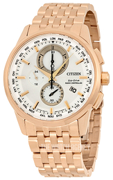 Citizen Perpetual Calendar White/Rose gold colored steel Ø43 mm AT8113-55A