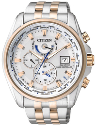 Citizen Radio Controlled White/Rose gold colored steel Ø44 mm AT9034-54A