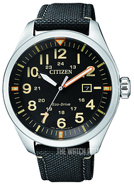 Citizen Black/Leather Ø42.6 mm AW5000-24E