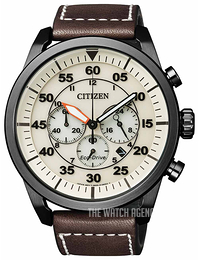 Citizen White/Leather Ø45 mm CA4215-04W