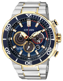Citizen Sport Blue/Yellow gold toned steel Ø46 mm CA4254-53L