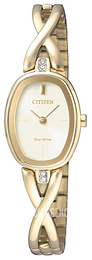 Citizen Elegance Beige/Yellow gold toned steel Ø18 mm EX1412-82P