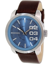 Diesel Double Down 46 Blue/Leather Ø46 mm DZ1512