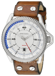 Diesel Analog Silver colored/Leather Ø46 mm DZ1715