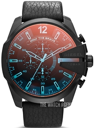 Diesel Analog Black/Leather Ø59 mm DZ4323