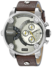 Diesel Analog Silver colored/Leather Ø51 mm DZ7335