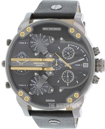 Diesel Analog Black/Leather Ø57 mm DZ7348