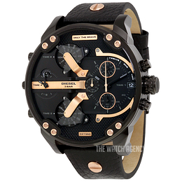 Diesel Analog Black/Leather Ø57 mm DZ7350