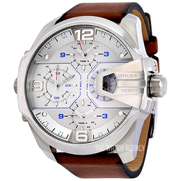 Diesel Chronograph Silver colored/Leather Ø55 mm DZ7374