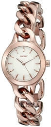 DKNY White/Rose gold colored steel Ø24 mm NY2214