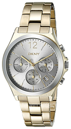 DKNY Chronograph Silver colored/Yellow gold toned steel Ø37 mm NY2452