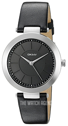 DKNY Dress Black/Leather Ø36 mm NY2465