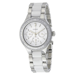 DKNY White/Steel Ø38 mm NY2497