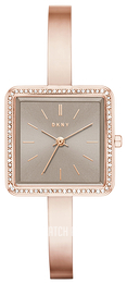 DKNY Crystal Grey/Rose gold colored steel NY2559