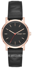 DKNY Dress Black/Leather Ø34 mm NY2605