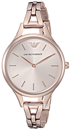 Emporio Armani Rose gold colored/Rose gold colored steel Ø32 mm AR11055