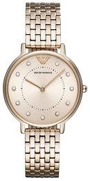 Emporio Armani Champagne colored/Yellow gold toned steel Ø32 mm AR11062