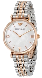 Emporio Armani Dress White/Rose gold colored steel Ø32 mm AR1683