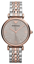 Emporio Armani Dress Grey/Rose gold colored steel Ø31 mm AR1840