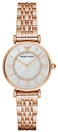 Emporio Armani Dress White/Rose gold colored steel Ø32 mm AR1909