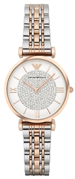 Emporio Armani Dress White/Rose gold colored steel Ø32 mm AR1926