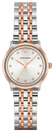 Emporio Armani Dress Silver colored/Rose gold colored steel Ø30 mm AR1962
