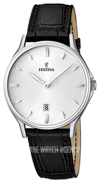Festina Dress Silver colored/Leather Ø39 mm F16745-2