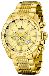 Festina Yellow gold toned/Yellow gold toned steel Ø44 mm F16878-2