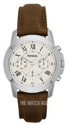 Fossil Dress White/Leather Ø38 mm FS4839