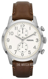Fossil Townsman White/Leather Ø44 mm FS4872