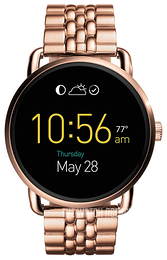 Fossil LCD-screen/Rose gold colored steel Ø45 mm FTW2112