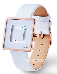 Hygge 2089 Rose Gold White/Leather Ø32 mm HGE020083