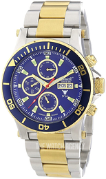 Ingersoll Bison Blue/Yellow gold toned steel Ø46 mm IN1511BLMB