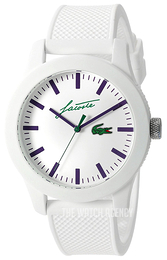 Lacoste 12.12 White/Rubber Ø43 mm 2010861