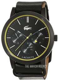 Lacoste Metro Black/Leather Ø44 mm 2010876