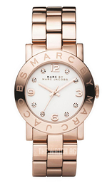 Marc by Marc Jacobs Amy White/Rose gold colored steel Ø36 mm MBM3077