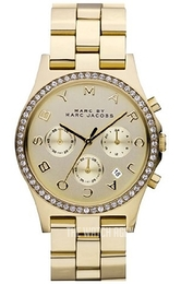 Marc by Marc Jacobs Champagne colored/Yellow gold toned steel Ø38 mm MBM3105