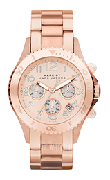 Marc by Marc Jacobs Rock Chrono Rose gold colored/Rose gold colored steel Ø40 mm MBM3156