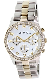 Marc by Marc Jacobs Henry Chrono Silver colored/Yellow gold toned steel Ø40 mm MBM3197
