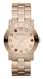 Marc by Marc Jacobs Amy Dexter Rose gold colored/Rose gold colored steel Ø36.5 mm MBM3216