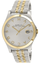 Marc by Marc Jacobs Silver colored/Yellow gold toned steel Ø36 mm MBM3319