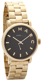 Marc by Marc Jacobs Baker Black/Yellow gold toned steel Ø36 mm MBM3355
