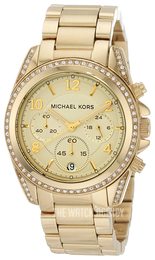 Michael Kors Runway Yellow gold toned/Yellow gold toned steel Ø38 mm MK5166