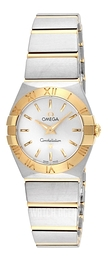 Omega Constellation Quartz 24mm Silver colored/18 carat yellow gold Ø24 mm 123.20.24.60.02.002