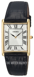 Seiko Dress Silver colored/Leather SFP608P1