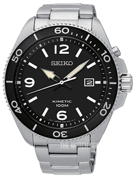 Seiko Kinetic Black/Steel Ø45 mm SKA747P1