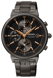 Seiko Chronograph Black/Steel Ø37 mm SNDW47P1