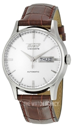 Tissot Visodate Silver colored/Leather Ø40 mm T019.430.16.031.01